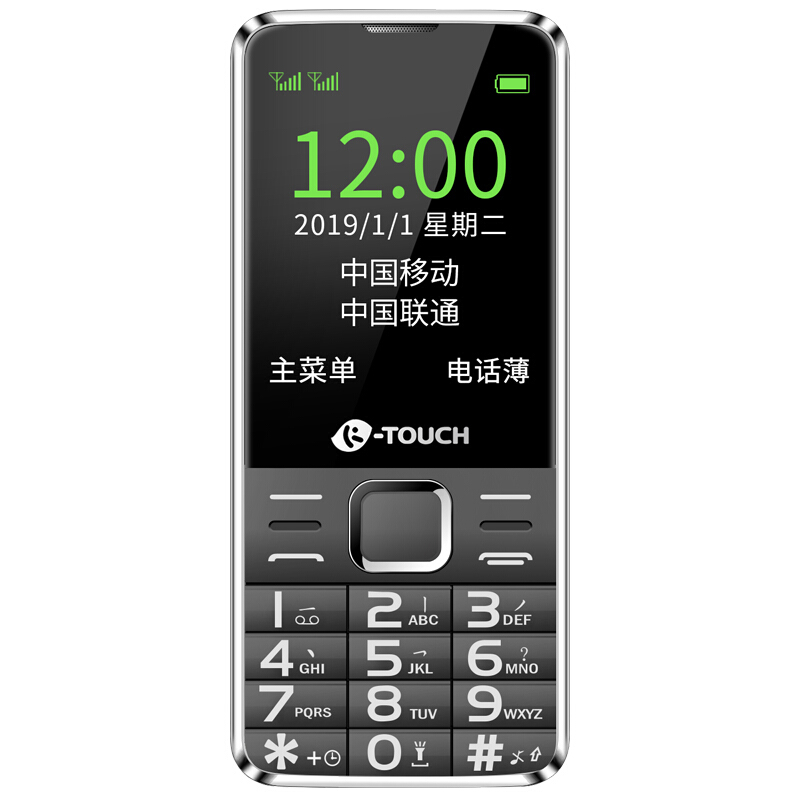 K-TOUCH 天语 T2 移动联通版 2G手机 黑色