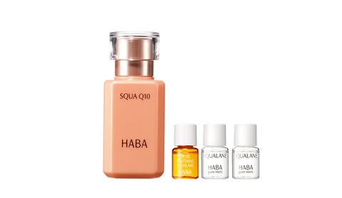 HABA  辅酶Q10 鲨烷美容液 30ml+精纯4ml*2瓶+美白4ml