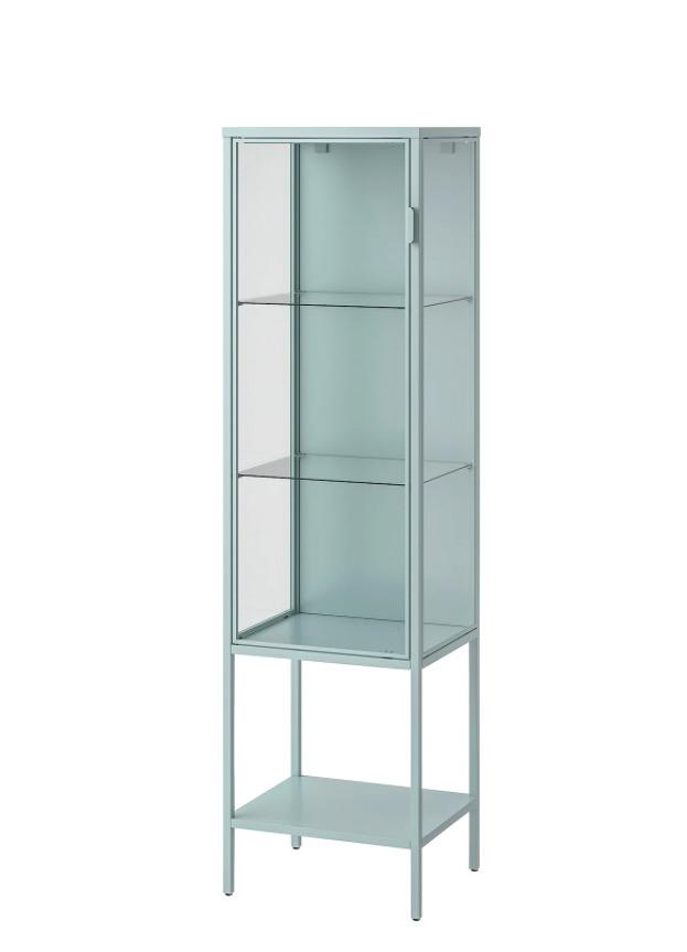 RUDSTA 鲁德斯塔 玻璃门柜 浅青绿色 42x37x155 厘米