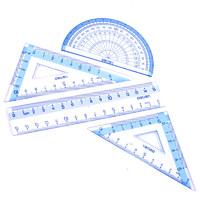 deli 得力 9597 学生尺子套装 4把(直尺 三角板 量角器)