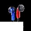 NICEHCK MX500 无麦版 平头塞有线动圈耳机 宝石红蓝