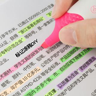 彩色荧光笔6色可选学生糖果色记号笔粗划重点笔记 橙色 单只