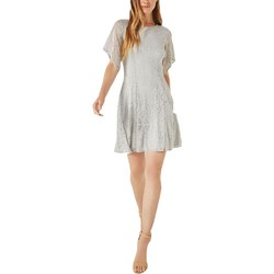 BCBG MAX AZRIA 女士蕾丝不对称袖A字迷你连衣裙