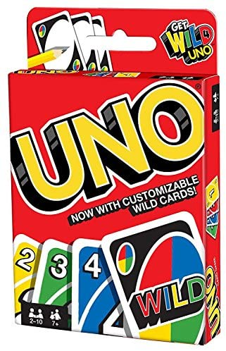 Mattel Games UNO 乌诺牌 Card Game Customizable with Wild Cards
