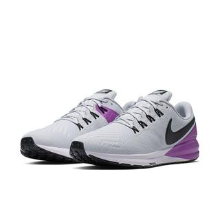 NIKE 耐克 Air Zoom Structure 22 男子跑鞋 AA1636-009 灰紫 42.5