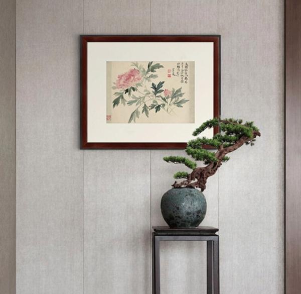 雅昌 恽寿平《牡丹图》59×48cm 装饰画 宣纸