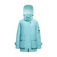 BOSIDENG 波司登 运动系列 女士鹅绒羽绒服 B00143222 541A 冰雨蓝 糙白 170/92A