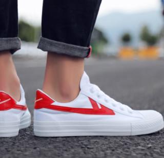 WARRIOR 回力 中性运动板鞋 WXYA109T 红/白 40
