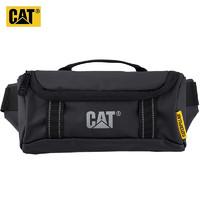 CAT CAT/美国卡特腰包潮流PVC贴身包背部隐藏口袋大开口手机小包黑色 83680