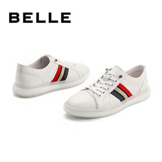 BeLLE 百丽 7FS01BM1 男士撞色休闲板鞋