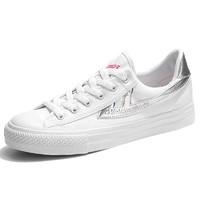 WARRIOR 回力 中性运动板鞋 WXYA109T 银/白 35