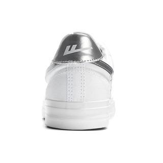 WARRIOR 回力 中性运动板鞋 WXYA109T 银/白 36