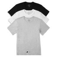 Calvin Klein 卡尔文·克莱  纯棉圆领打底T恤, 3件装