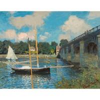 艺术家的礼物 莫奈复刻版画-阿让特伊的桥 小号铝合金雅 44x55cm