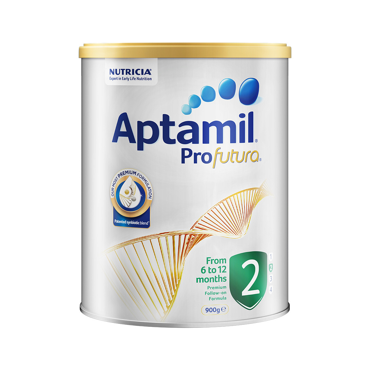 Aptamil 爱他美 白金版 婴儿配方奶粉 2段 900g
