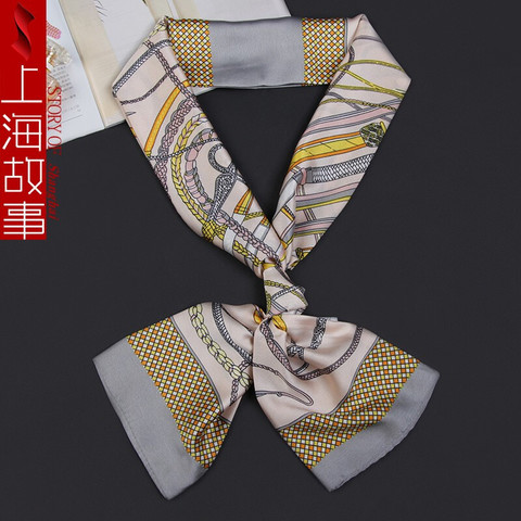 shanghai story 上海故事 上海故事丝巾小长条脖子装饰品百搭丝带