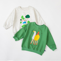 Oissie 奥伊西  1-7岁男女宝宝纯棉卡通圆领套头卫衣儿童春秋长袖上衣