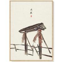 海龙红 装饰画 24节气 中国古风挂画 二十四客厅墙画