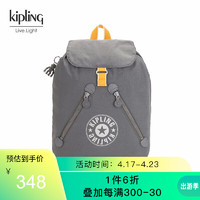 Kipling kipling男女款大容量轻便背包2020新款书包双肩包FUNDAMENTAL NC 粗花木炭灰