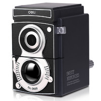 deli 得力 0668 复古相机造型转笔刀削 黑色