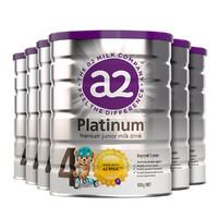 a2 艾尔 白金版 婴幼儿奶粉 4段 900g 6罐
