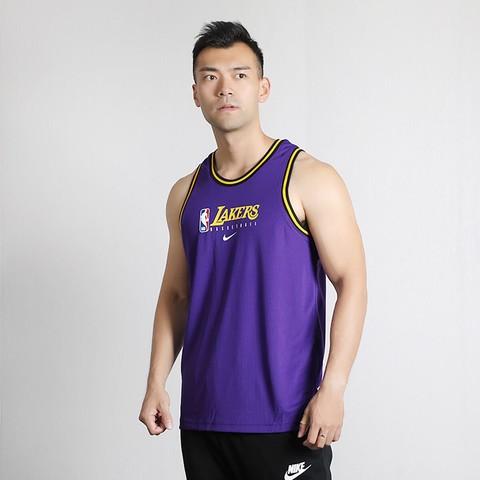NIKE 耐克 男装运动服湖人队篮球服训练球衣无袖T恤休闲背心