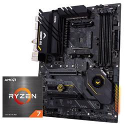 AMD R7-5800X 盒装CPU处理器 + ASUS 华硕 TUF GAMING X570-PRO(WiFi)主板 套装