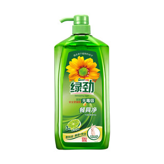 绿劲柚子柠檬洗洁精2kg可洗果蔬餐具净除菌去油污不伤手无残留