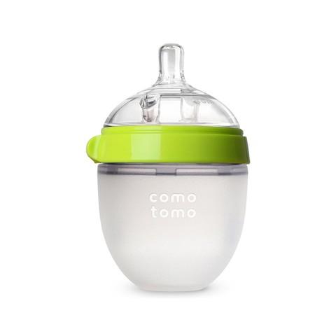 comotomo 可么多么 宝宝新生婴儿硅胶奶瓶防摔150ml 0-3个月