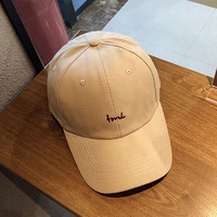 HAUTTON 帽子男女遮阳帽棒球帽鸭舌帽字母刺绣韩版百搭个性潮时尚帽子