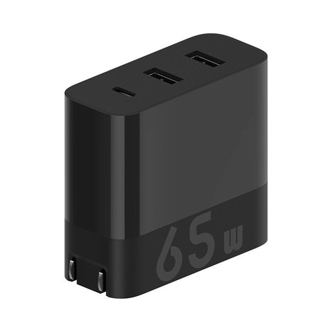 ZMI 紫米 ZMI紫米65W三口充电器头适用于华为苹果12/11手机18W小米10至尊版快充Macbook笔记本thinkpad适配器HA835