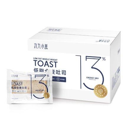 丸九小美 全麦低脂无蔗糖吐司面包 1000g