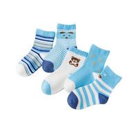 miaoyoutong 妙优童 儿童薄款中筒袜 5双
