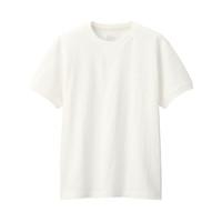 MUJI 无印良品 男式 粗棉线 天竺编织 缝边短袖T恤