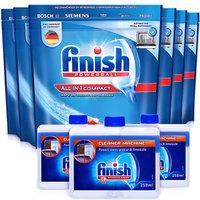 PLUS会员:finish 亮碟 小型多效合一洗涤块套装(多效合一洗碗块*6+机体清洁剂*3)