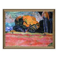 雅昌 风景油画《山脚》高更 背景墙装饰画 挂画 宫廷金 101×77cm