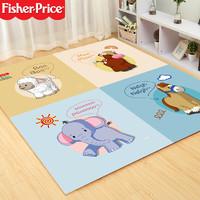 Fisher-Price 费雪 爬行垫宝宝爬爬垫 婴儿拼图拼接垫防滑抗撞击泡沫地垫 60*60*1cm 问候4片装