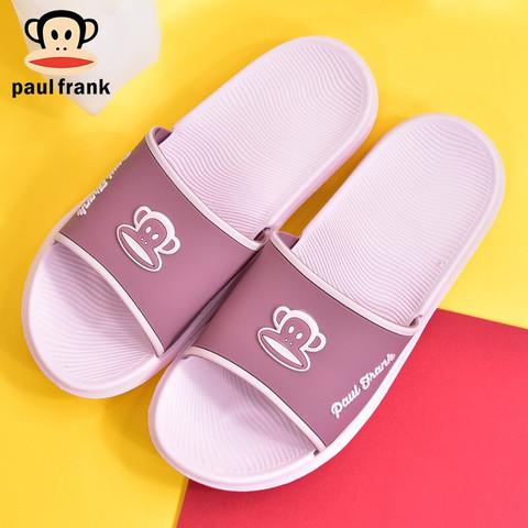 Paul Frank 大嘴猴 大嘴猴PaulFrank凉拖鞋男女情侣款居家室内厚底浴室洗澡拖鞋 PF7891 紫色
