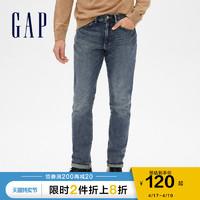 Gap 盖璞 Gap男装弹力休闲直筒牛仔裤春季185980 时尚潮流水洗裤子男士长裤