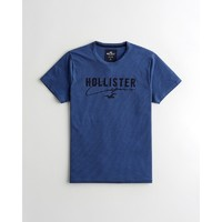 HOLLISTER 霍利斯特 2021春季新品潮流刺绣 Logo 圆领图案 T 恤 男 308181-1