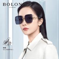 BOLON 暴龙 暴龙眼镜杨幂官宣首发2021年新款太阳镜不规则大框墨镜BL7138 A60-紫灰色