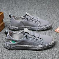 Josiny 卓诗尼 春季男鞋新款透气冰丝帆布鞋速干潮鞋一脚蹬懒人上班男士板鞋