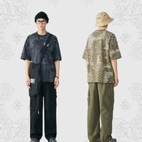 PEACEBIRD MEN 太平鸟风尚男装 BWDAB1522 男士腰果花短袖T恤