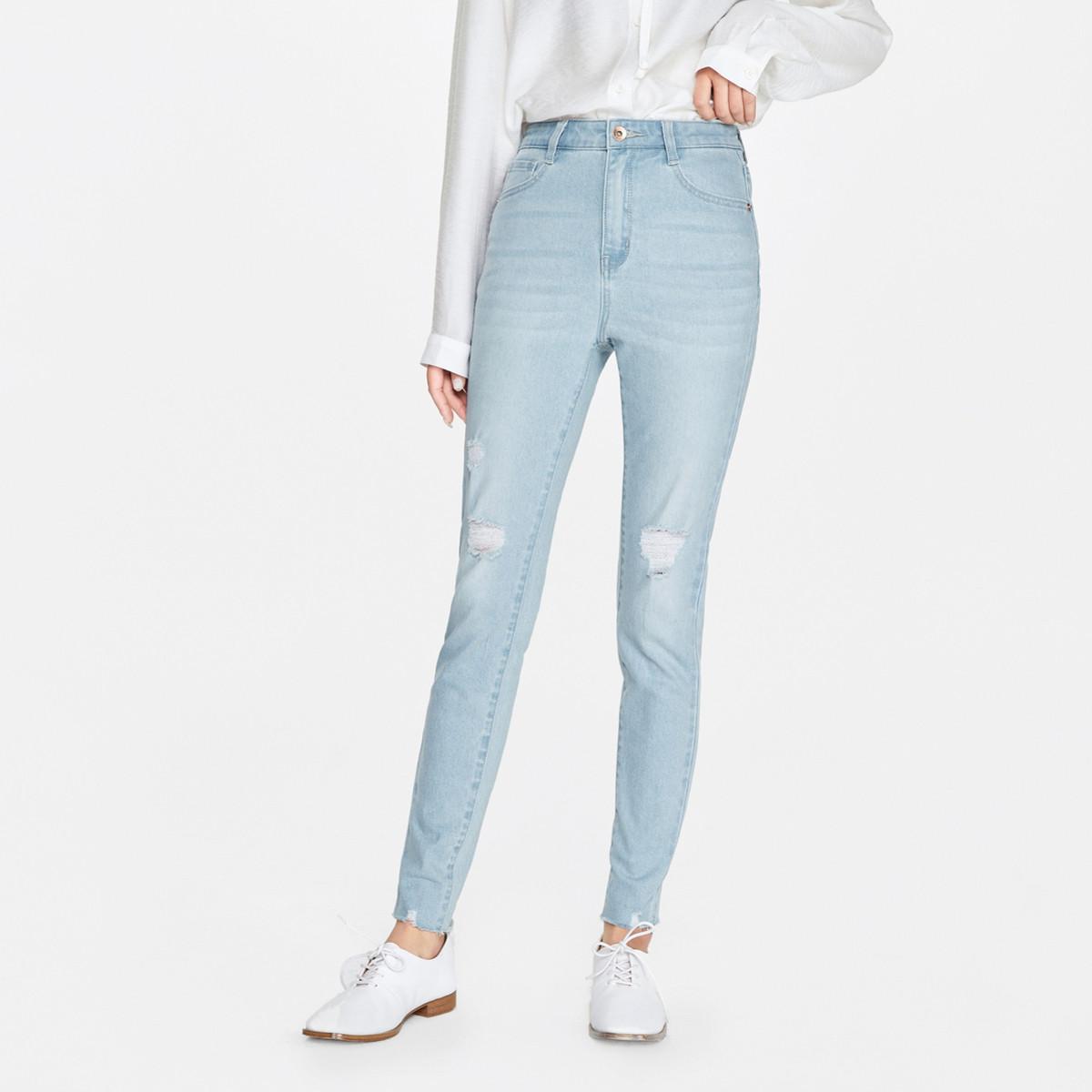 Semir 森马  19A120240144 女士九分牛仔裤