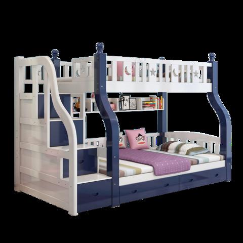 六水 双层全实木上下床儿童床两层简约现代男孩女孩高低