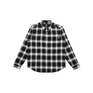 R411110001 艺术家联名款 男女款式长袖格子衬衫