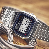 CASIO 卡西欧 卡西欧手表男时尚运动简约复古方形男士手表