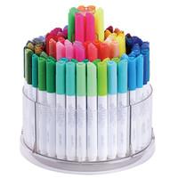 京东PLUS会员:deli 得力  70661 可水洗水彩笔 (内赠8支荧光笔) 100色 108支桶装
