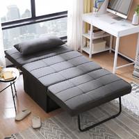 林氏木业   LS050FC1 折叠两用沙发床 浅灰色