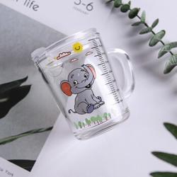竹木本记 卡通象 玻璃杯 400ml